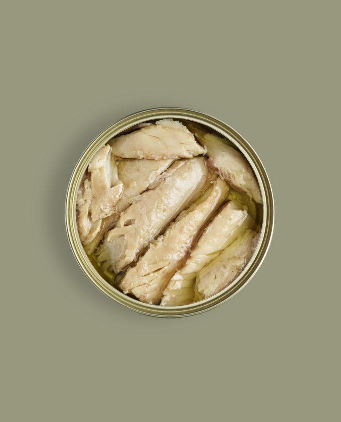 Lata abierta de Caballa en Aceite de Oliva Canthynnus